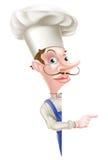 Dare una occhiata al cuoco unico Pointing Immagine Stock