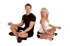 Dare una occhiata di yoga Immagini Stock