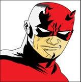 The daredevil in cartoon Royalty Free Stock Photo
