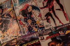 Daredevil marvel comics. Daredevil is a fictional superhero appearing in American comic books published by Marvel Comics. Daredevil was created by writer-editor Royalty Free Stock Photo