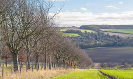 Kent countryside UK darent walley Stock Image