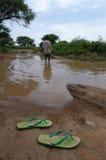 darfur πλημμυρισμένος δρόμος στοκ εικόνες