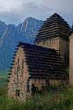 Dargavs, 14第16个世纪的一座文化和历史纪念碑 图库摄影