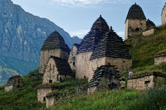 Dargavs, 14第16个世纪的一座文化和历史纪念碑 免版税库存图片