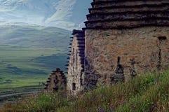 Dargavs, 14第16个世纪的一座文化和历史纪念碑 免版税库存照片