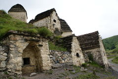 Dargavs. A city of the dead. Historic Middle Ages Crypt town. The North Ossetia. Russian Federation Stock Photos