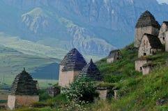 Dargavs, un monument culturel et historique des 14-16èmes siècles Photo stock