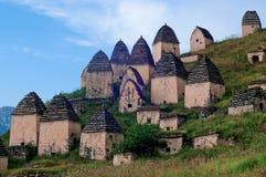 Dargavs, un monument culturel et historique des 14-16èmes siècles Photo libre de droits