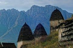 Dargavs, un monument culturel et historique des 14-16èmes siècles Photos libres de droits
