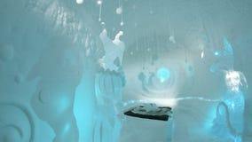 dargestellt im Eishotel in Schweden Lizenzfreies Stockfoto