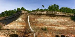 Dargestellte Felsen Stockfoto