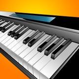 Dargestellte Klaviertastatur vektor abbildung