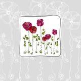 Dargestellte nette Blumen Stockfotografie