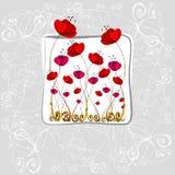 Dargestellte nette Blumen Lizenzfreie Stockbilder
