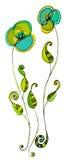 Dargestellte nette Blumen Lizenzfreies Stockbild