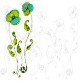 Dargestellte nette Blumen Lizenzfreie Stockfotos
