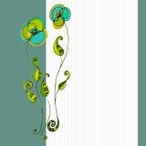 Dargestellte nette Blumen Stockbilder