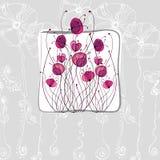 Dargestellte nette Blumen Stockbild