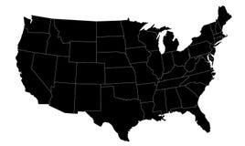 Dargestellte US-Karte lizenzfreie abbildung