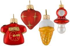 Dargestellte Weihnachtsspielwaren stockfotos