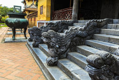 Dargon in Architecture of the Hue ancient citadel, Vietnam Stock Image