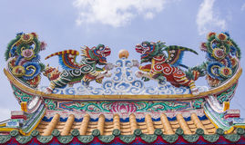 Dargon unicon on the chinese temple Stock Photos