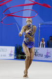 Daria Dmitrieva no copo de mundo 2010 de Pesaro Imagem de Stock