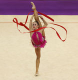 Daria Dmitrieva (Russia) at Deriugina Cup Stock Photo