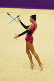 Daria Dmitrieva (Russia) performs at Deriugina Cup Stock Image