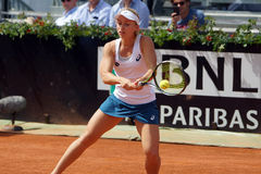 Daria Gavrilova (AUS). ROME, ITALY - MAY 10, 2016: Daria Gavrilova (AUS) during her 1st round match against Sabine Lisicki (GER) at the Internazionali BNL d' Royalty Free Stock Image
