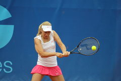 Daria Gavrilova - Prague open 2011. Daria Gavrilova from Russia in the first qualification round of tennis tournament STRABAG Prague open 2011. The match was Royalty Free Stock Photos