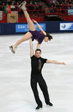Daria POPOVA / Bruno MASSOT (FRA) Royalty Free Stock Photo