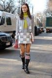 Daria shapovalova Milano,milan fashion week streetstyle autumn winter 2015 2016 Royalty Free Stock Images