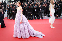Daria Strokous. CANNES, FRANCE - MAY 19: Daria Strokous attends the 'Sicario' premiere during the 68th annual Cannes Film Festival on May 19, 2015 in Cannes Royalty Free Stock Photos