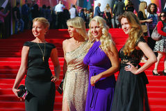 Daria Subbotina and Anna Gorshkova at Moscow Film Festival Stock Image