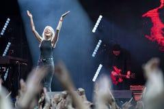 Daria Zawialow durante il concerto di Meskie Granie 2018 a Varsavia fotografia stock
