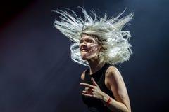 Daria Zawialow durante il concerto di Meskie Granie 2018 a Varsavia immagini stock libere da diritti