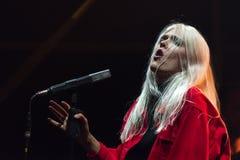 Daria Zawialow durante il concerto di Meskie Granie 2017 a Varsavia immagine stock libera da diritti
