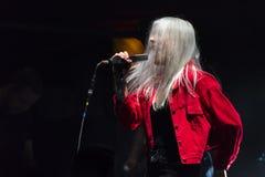 Daria Zawialow durante il concerto di Meskie Granie 2017 a Varsavia immagini stock libere da diritti