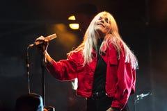 Daria Zawialow durante il concerto di Meskie Granie 2017 a Varsavia fotografia stock