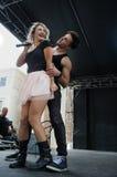 Darian勒妮执行与她的舞蹈家 库存图片