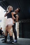 Darian Renee executa com seu dançarino Imagem de Stock
