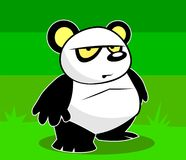 Daring Panda with an attitude. A cute panda that doesn't seem to have many friends Royalty Free Stock Photography