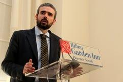 Dario Parrini Member of the Italian Parliament and party secretary Tuscan Pd Royalty Free Stock Image