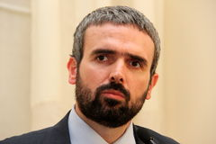 Dario Parrini Member of the Italian Parliament and party secretary Tuscan Pd Stock Photography