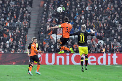 Dario Srna jumped for the ball Royalty Free Stock Photos