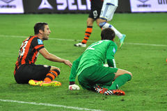 Dario Srna and Kanibolotskiy Anton on the field Stock Images