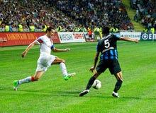Dario Srna, Shakhtar Kapitän des Fußballs lizenzfreies stockbild