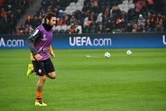 Dario Srna vóór de gelijke van het Champions League Stock Foto