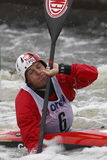 Dariusz Popiela in water slalom world cup race Stock Images